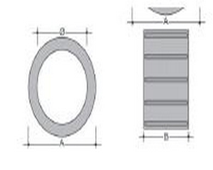 Anello sottopiede in PVC 20mm nero