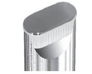 Copritesta ovali in ABS nero Diam. mm mm 20X40X1.5