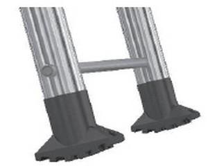 Piedi scala artiglio in PVC nero 40 mm