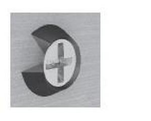Rondella sottovite svasata in PA Diam. mm 15 nera