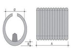 Sottopiede a pinza lungo in PE nero 28-30X45